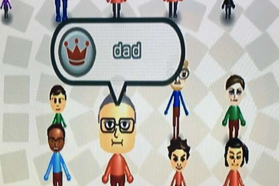 The avatar for the author's dad on Wii