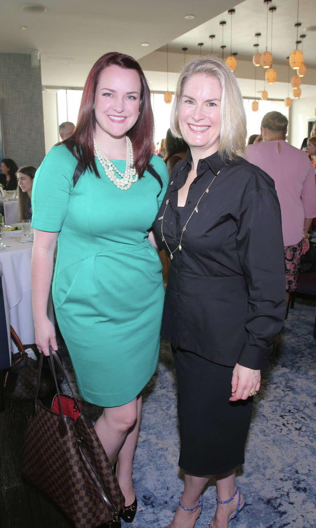 Katie Tipper-McWhorter and Amy Hertz at Ellevate Houston's executive breakfast.