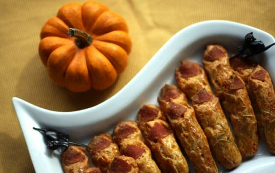 Witches'' Knuckles are warm appetizers made with cheese and pepperoni. (Rashaun Rucker/Detroit Free Press/MCT)