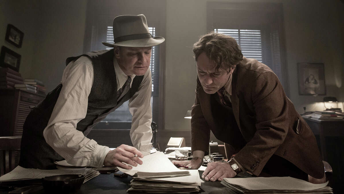 """Colin Firth, left, and Jude Law star in """"Genius."""""""