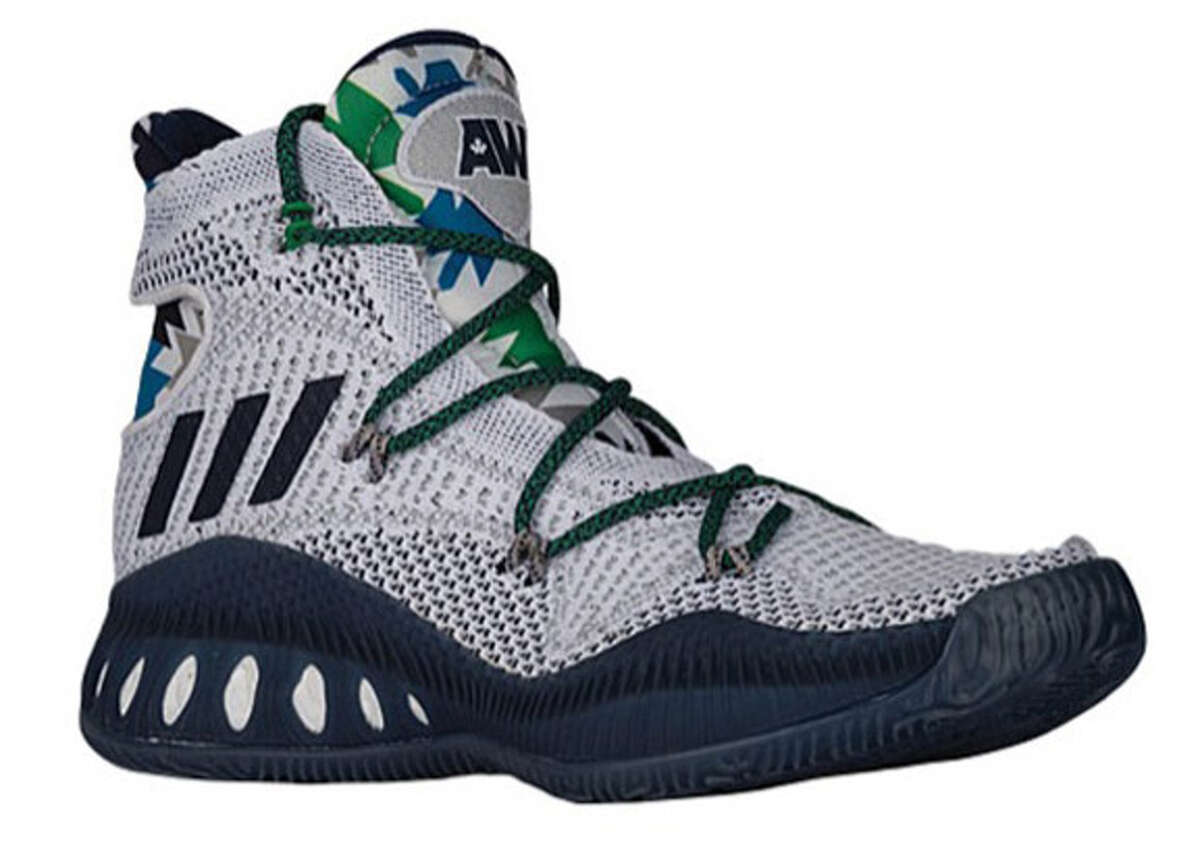 Andrew Wiggins' adidas Crazy Explosive These are the shoes Minnesota's Andrew Wiggins will wear next season. The knit look is kind of cool, but these look way too much like wrestling boots to be suitable for a good look on a basketball court.