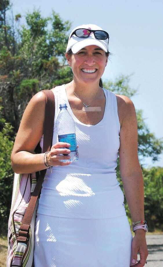 Contributed photo - Julie Hughes of Wilton is going to a national tennis tournament with the Shippan Tennis Club.