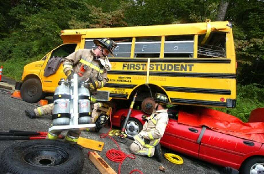 Bus Air Bags : Training day fire department prepares for any emergency