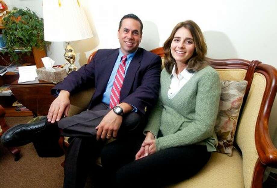 Photo/Alex von Kleydorff. James and Lisa Farnen, Directors of Farnen Educational Group in Wilton.