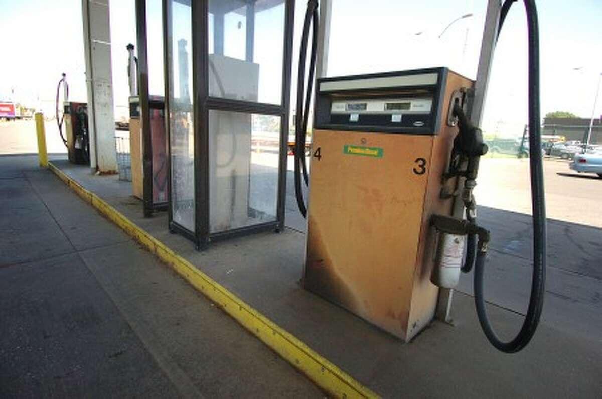 Photo/Alex von Kleydorff. City of Stamford gas pumps.