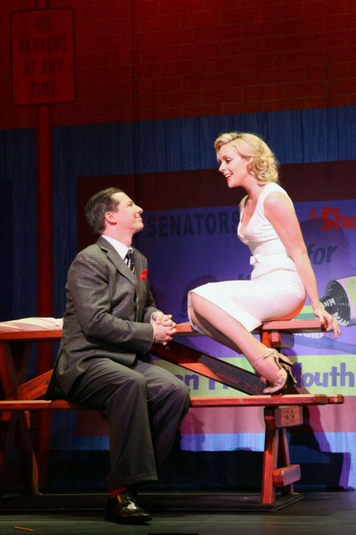 "Sean Hayes and Jane Krakowski in ""Damn Yankees."" Contributed photo/Joan Marcus"