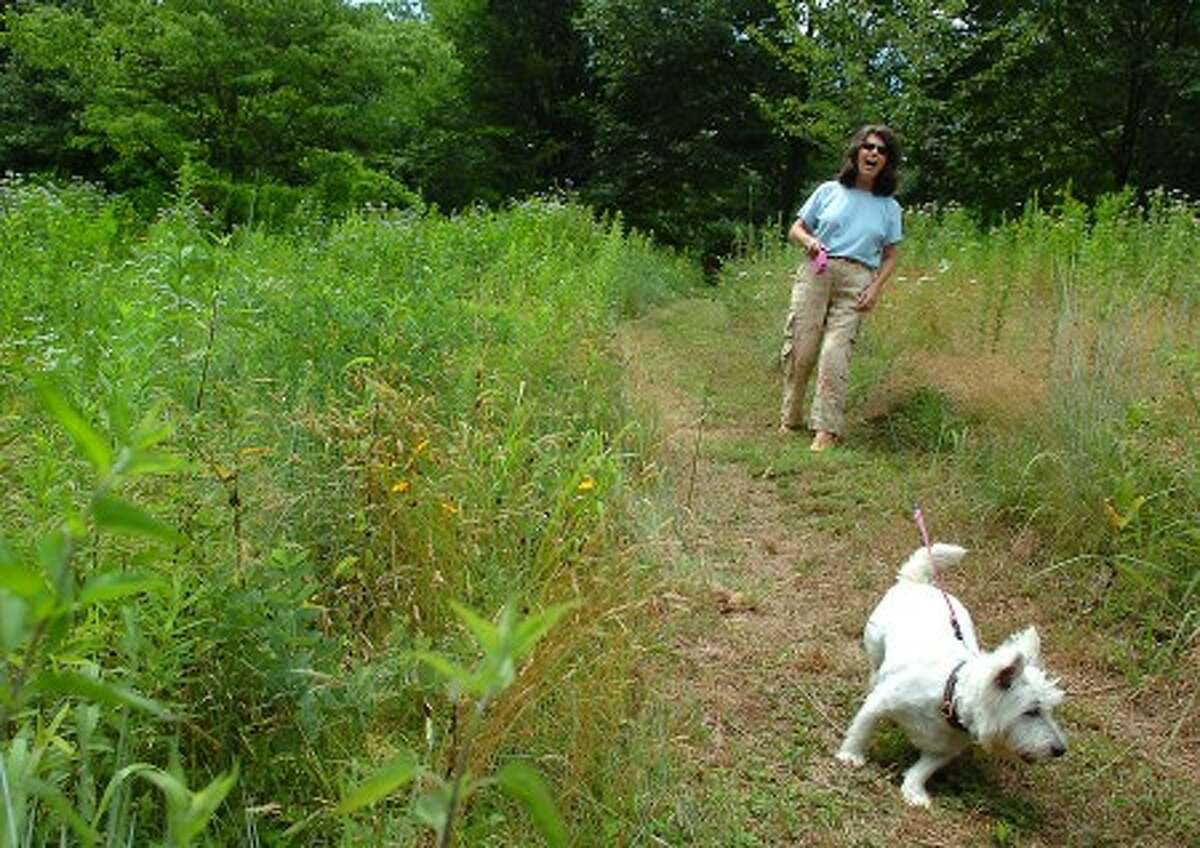 Patricia Cregan with her dog Maggie. MCT photo