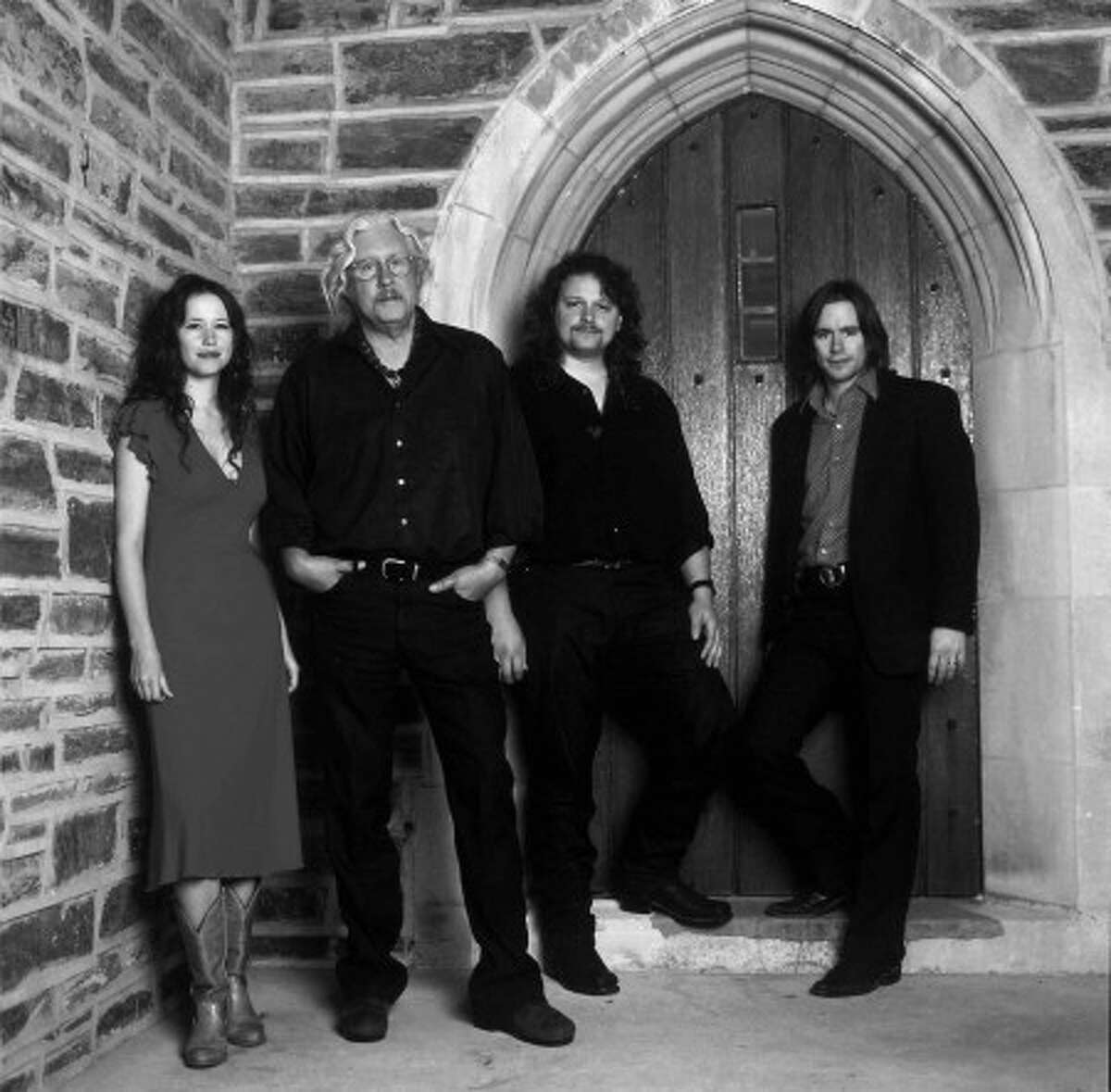 Arlo Guthrie with son, Abe, daughter, Sarah Lee Guthrie and her husband, Johnny Iron.