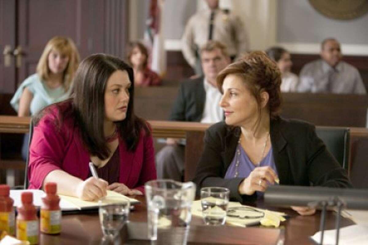"From left, Brooke Elliott and Kathy Najimy in Lifetime''s ""Drop Dead Diva."" (PRNewsFoto/Lifetime, Bob Mahoney)"