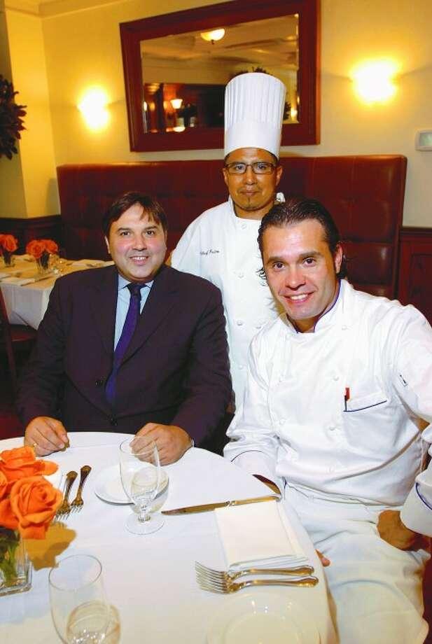 Ferrante restaurant owner Lenny Lorando, Sous Chef Pietro Dumano and Executive Chef Rodao Carvalho. Hour photo / Erik Trautmann