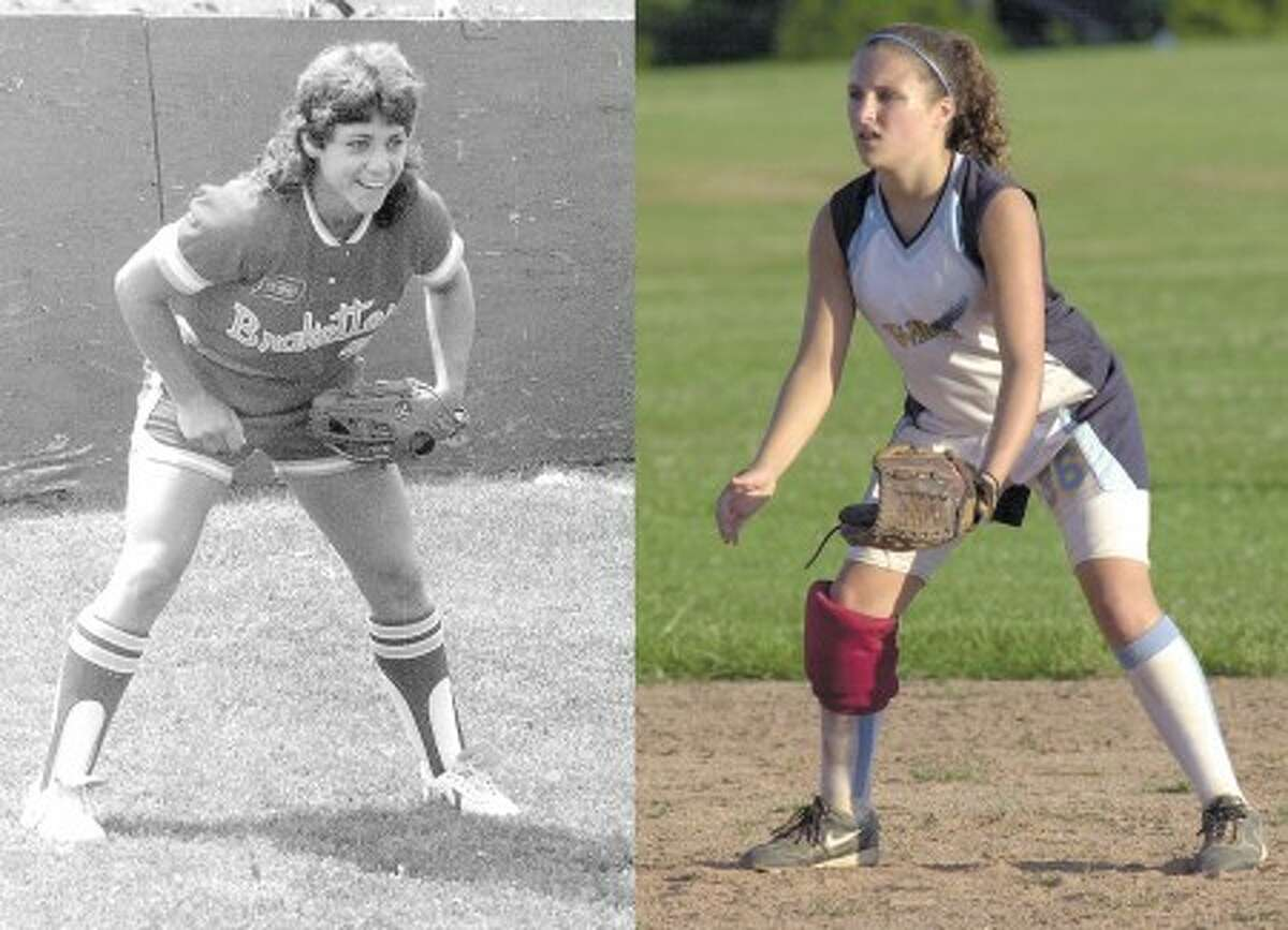 Contributed left; John Nash photo right - Allyson Rioux, left, and Allyson Souza, right, share more than a name. They share a love for the games they play. Souza was named after Rioux.
