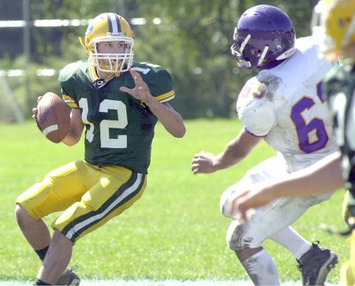 """Photo by John Nash - Trinity Catholic QB Steve Scalero went """"On The Record"""" with The Stamford Times last week."""