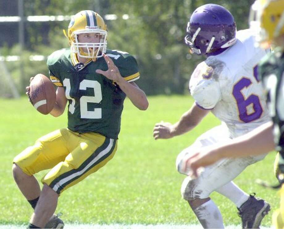 "Photo by John Nash - Trinity Catholic QB Steve Scalero went ""On The Record"" with The Stamford Times last week."