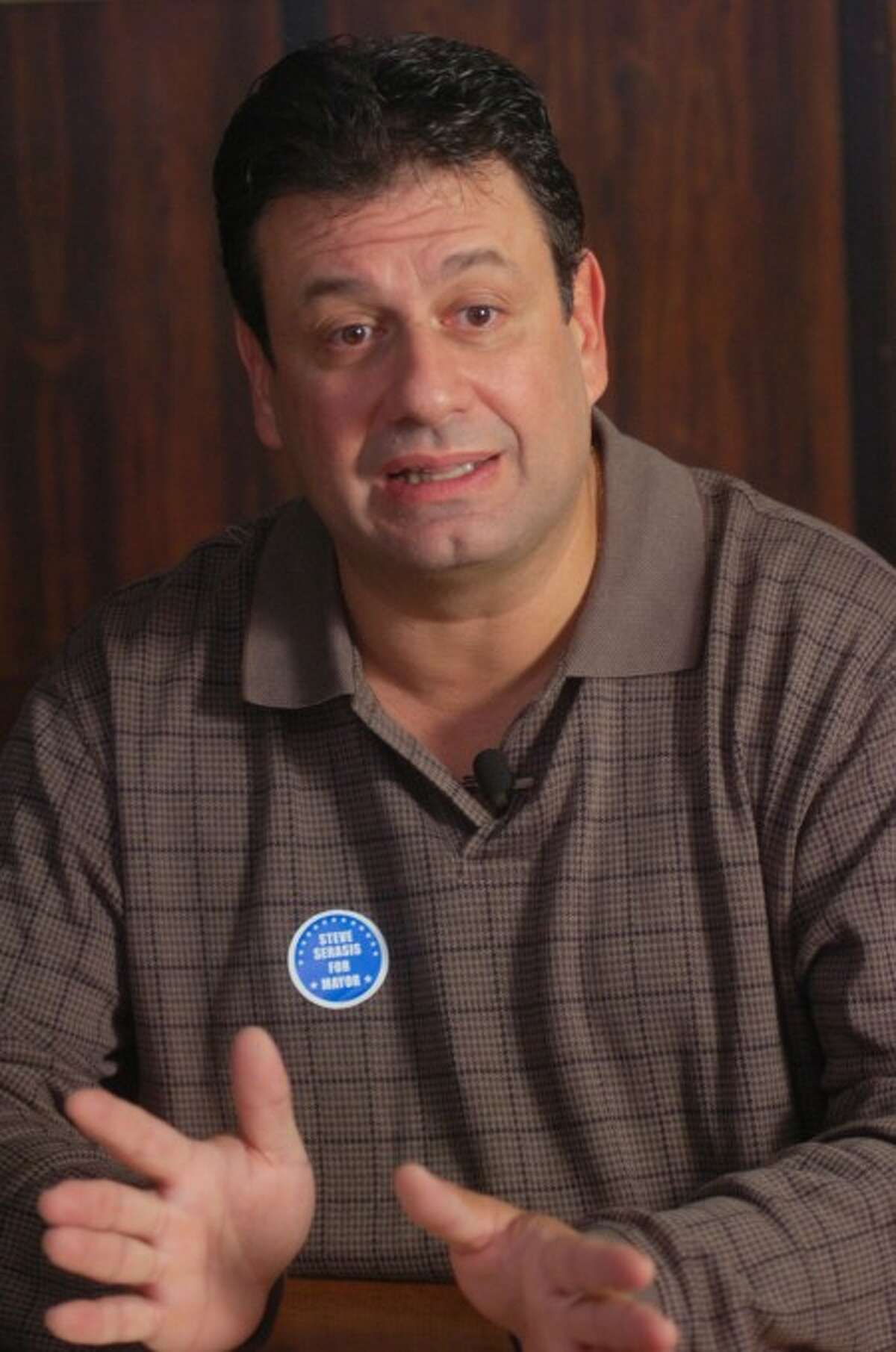 Democratic mayoral candidate Steven Serasis. Hour photo / Erik Trautmann