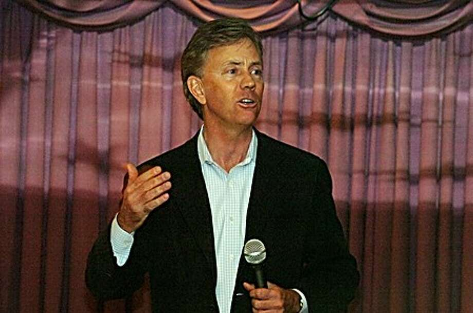 Former candidate for Connecticut Senate Ned Lamont speaks at the Silver Star Diner in Norwalk on Wednesday night/hour photo matthew vinci