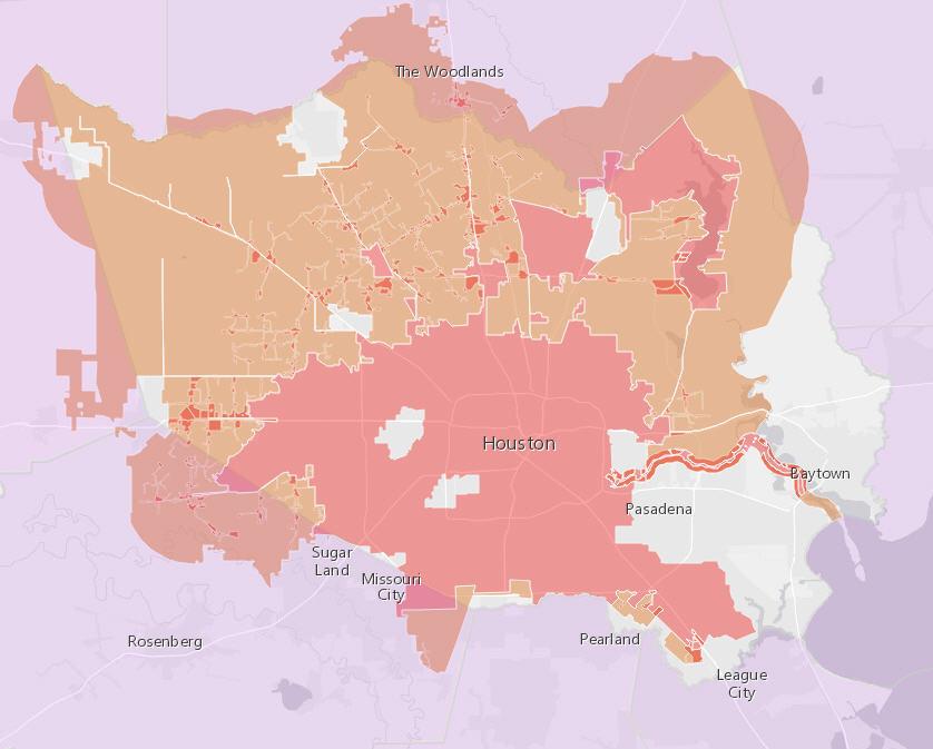 Houstonu0027s vast jurisdiction leaves many residents in