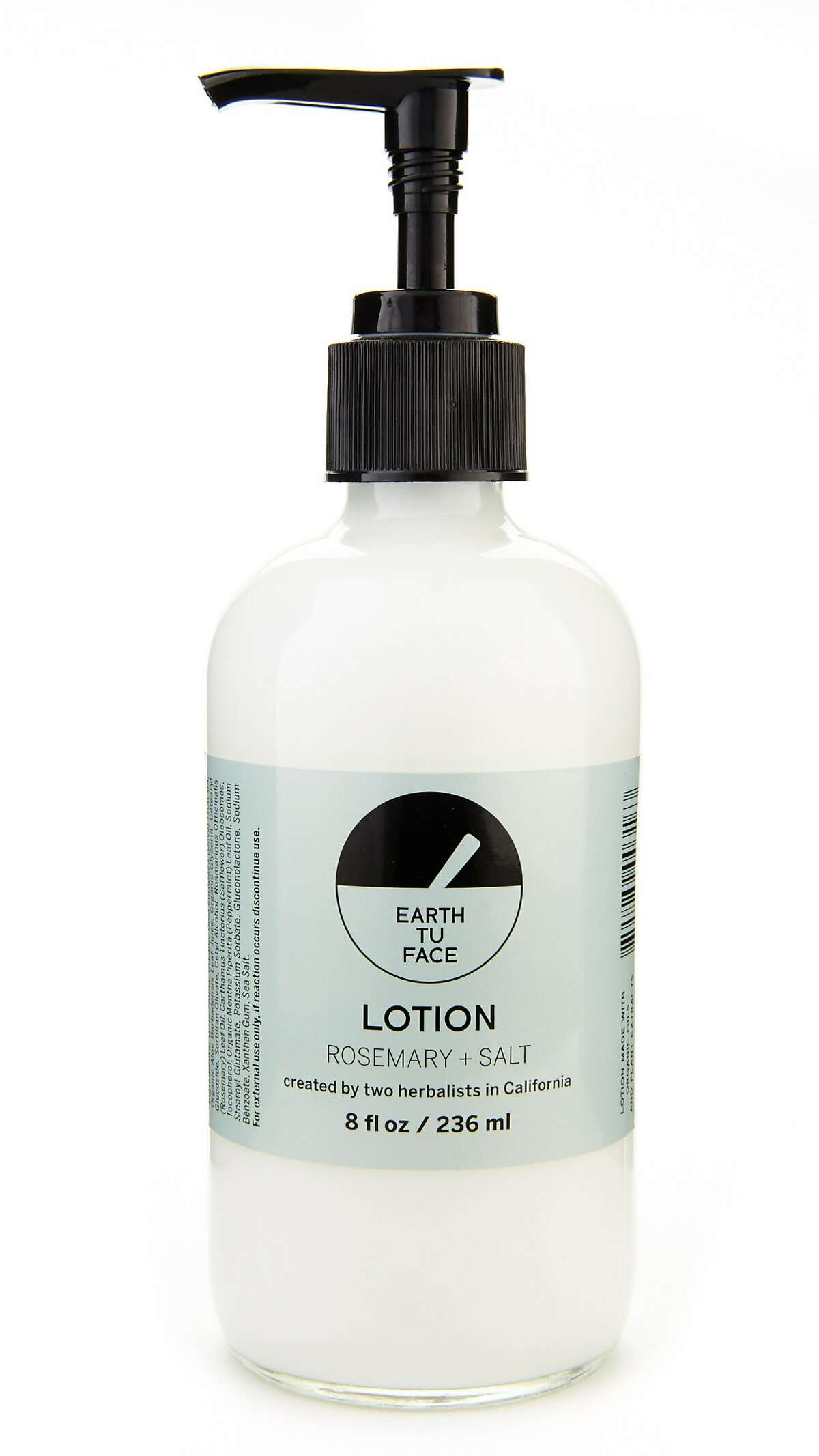 Give new life to tired hands and feet with invigorating Rosemary + Salt Lotion from Oakland-based Earth Tu Face. Created by herbalists and inspired by the ocean air, this creamy blend is infused with antioxidant rosemary, nourishing Vitamin E and a hint of peppermint oil. The scent is powerful, so start slow. ($38, www.earthtuface.com)