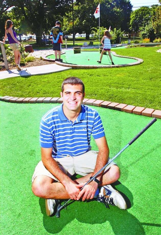 Cove Mini Golf assistant manager Mike Garvey is hosting a mini golf tournament August 22. Prizes include $100 cash prize and gift certificates to Golfsmith. Hour photo / Erik Trautmann