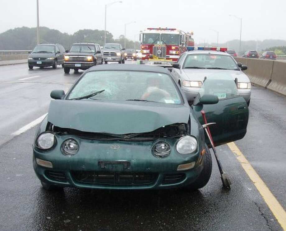 Contributed Photo Wet weather seems to be to blame for several accidents on Connecticut''s roadways Sunday afternoon.