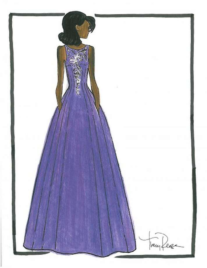 A ball gown design by Tracy Reese as a possible inaugural dress for Michelle Obama. (AP Photo/Tracy Reese)