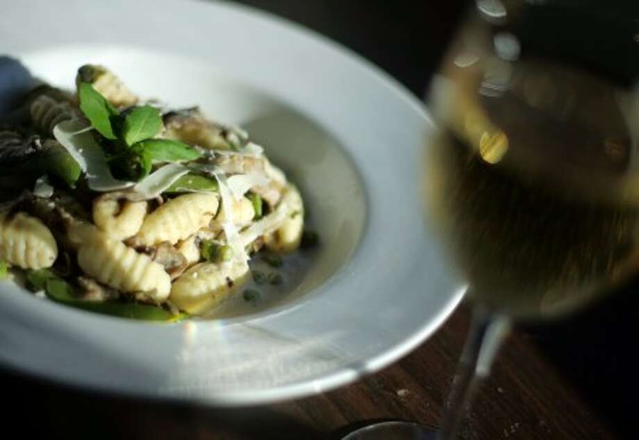 Gnocchi with wild mushrooms and basil cream. (Rashaun Rucker/Detroit Free Press/MCT)