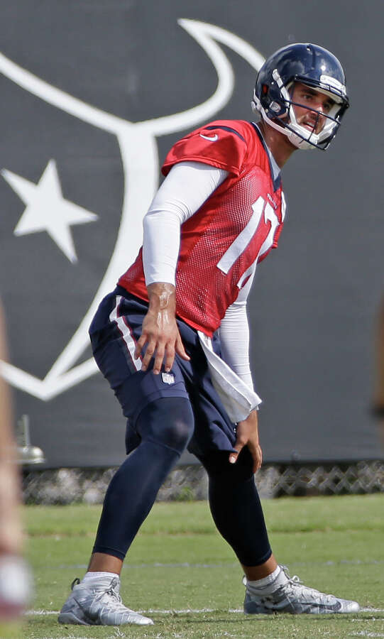Signed to a four-year, $72 million contract in March as the replacement for Brian Hoyer, Osweiler has proven to be a quick study so far in terms of absorbing knowledge about a complex playbook authored by O'Brien and offensive coordinator George Godsey. Godsey has been building chemistry with Hopkins and the other receivers and doing a nice job of fitting into the locker room. The real litmus tests will come in the regular season when the towering quarterback faces blitzes and disguised coverages.The book on Osweiler is still being written because he only had seven career starts for the Denver Broncos, winning five of them last season for the Super Bowl champions before being replaced by Peyton Manning. Given the opportunity to build his own legacy with a new team, Osweiler is eager to prove himself. Photo: Melissa Phillip, Staff / © 2016 Houston Chronicle