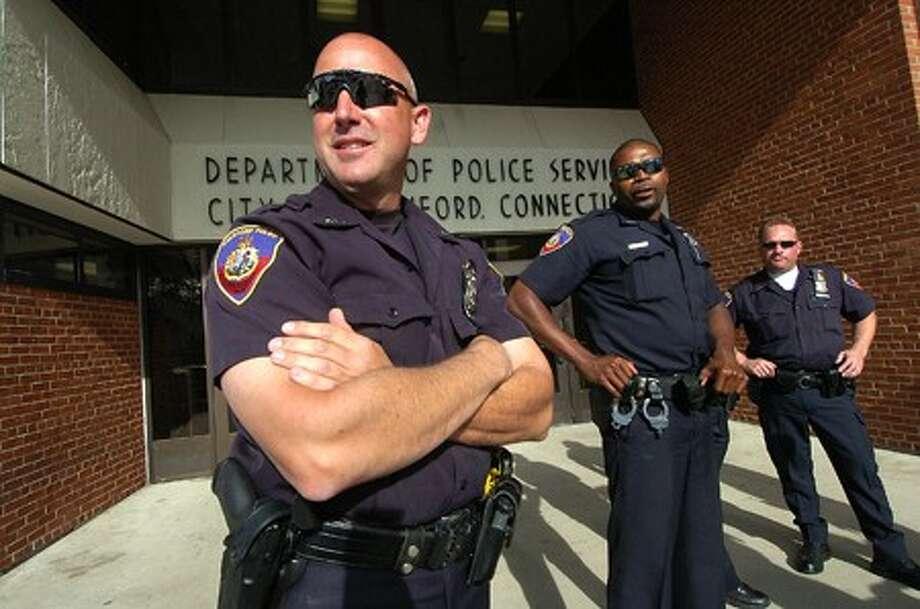 Photo/Alex von Kleydorff. Stamford Police Officer of the Year Bob Somody.
