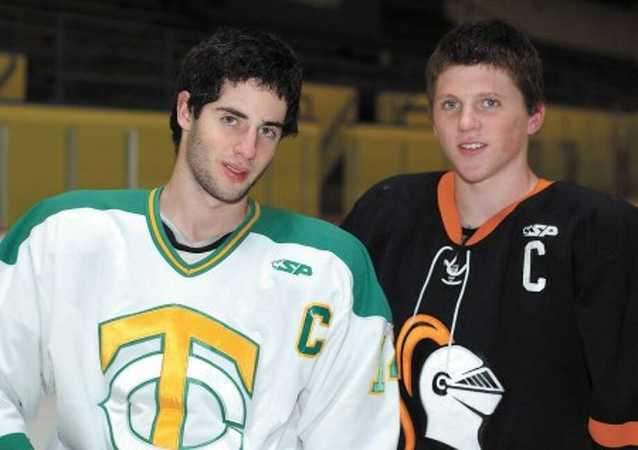 Photo by John Nash - Cousins John Doherty of Trinity, left, and Shane McCarthy of Stamford will do battle one final time on Saturday.