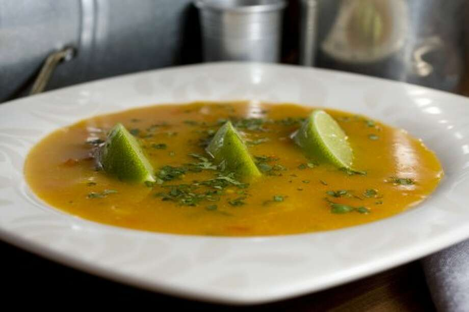 Squash Soup with Peppers and Fresh Lime. (AP Photo)