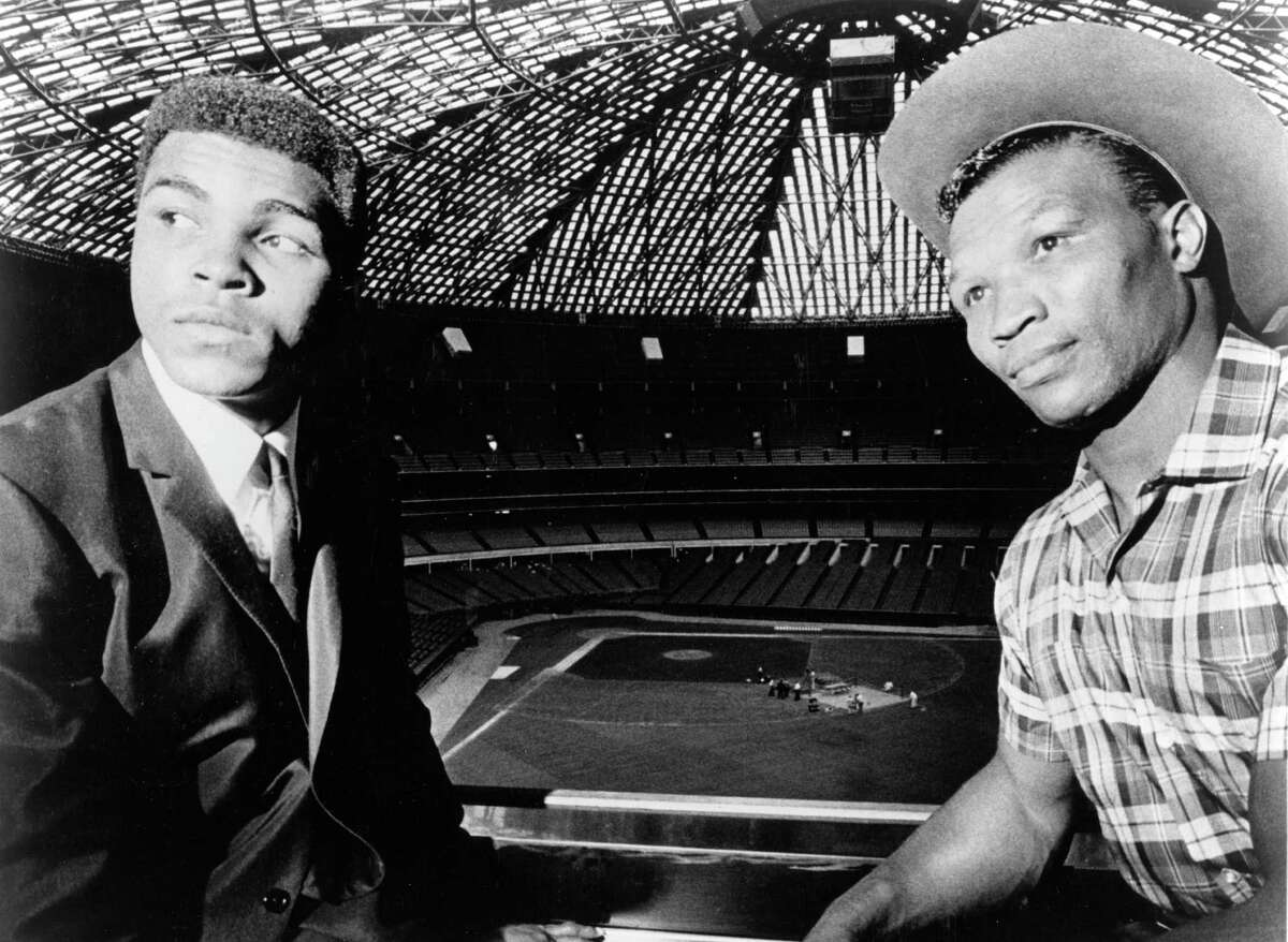 PHOTOS: A look at Muhammad Ali in Houston over the years boxers Cassius Clay (aka Muhammad Ali) and Cleveland Williams at the Astrodome for official contract signing for fight, September 1966. The heavyweight title bout is to take place at the dome November 14, 1966. Browse through the photos above for a look at Muhammad Ali in Houston.