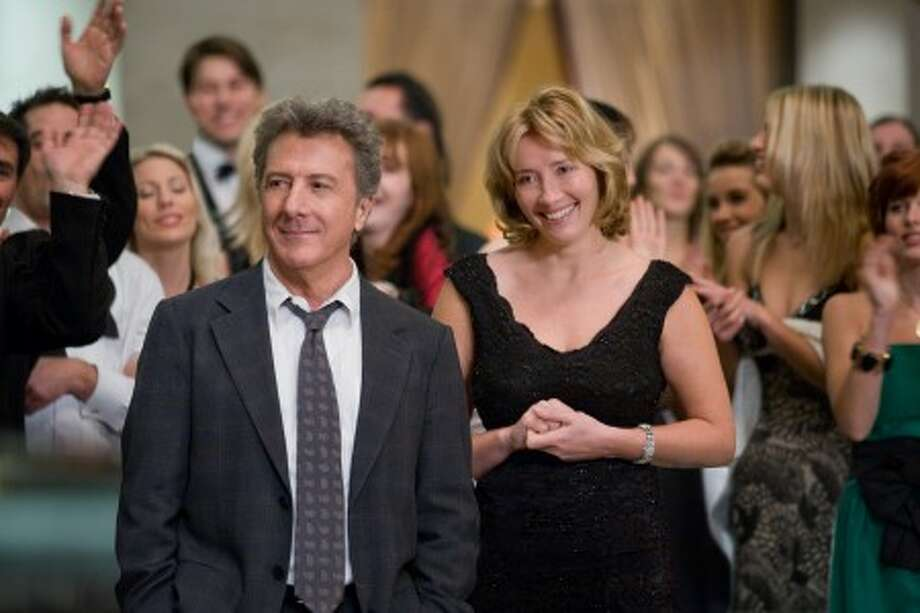 "Dustin Hoffman and Emma Thompson are shown in a scene from ""Last Chance Harvey."" (AP Photo)"