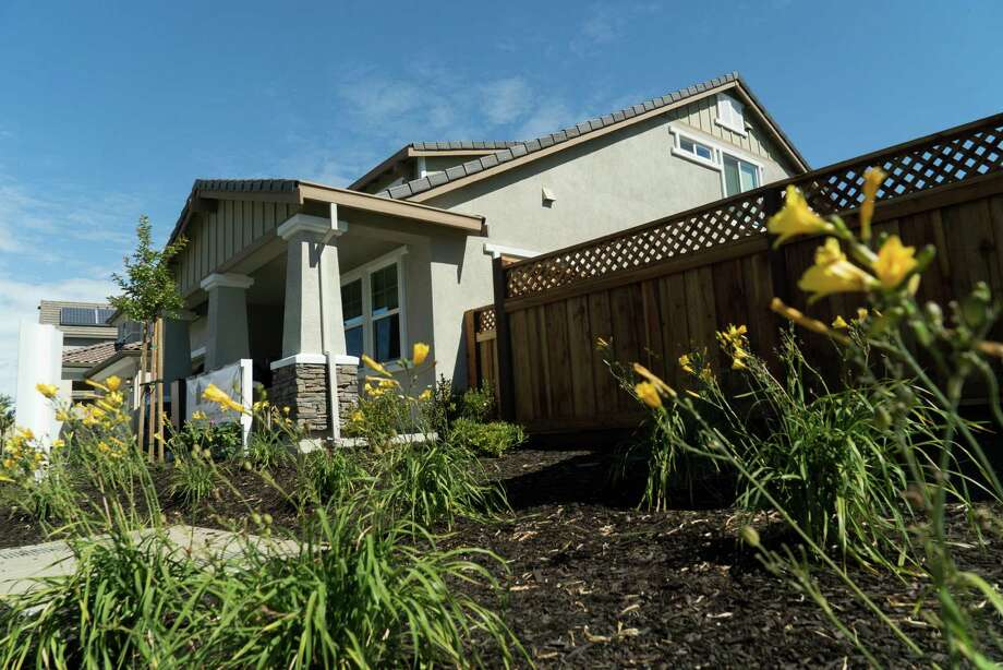 If all goes as planned, this new home in Brentwood, Calif., will generate as much electricity as it pulls from the grid over the course of a year.  Photo: James Tensuan, Freelance / James Tensuan
