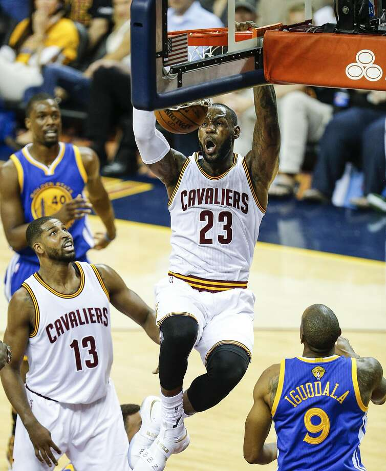 fc4bb8111077 Cleveland Cavaliers  LeBron James dunks in the first quarter during Game 6  of the NBA