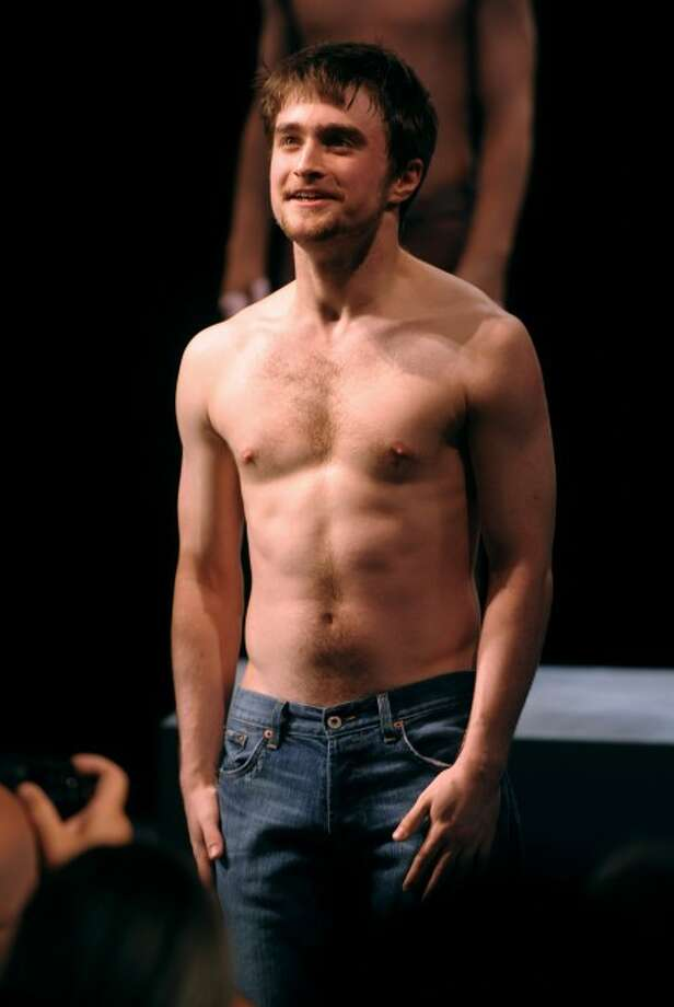"Actor Daniel Radcliffe at the curtain call for opening night of ""Equus"" on Broadway in New York on Sept. 25 (AP Photo/Peter Kramer)"