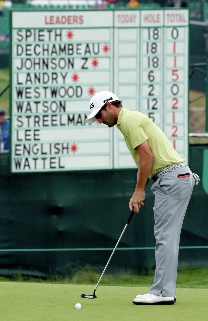 Andrew Landry got as low as 5-under par in a round that the weather forced him to abandon after 17 holes while sitting at 3 under.