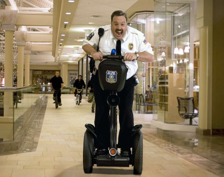 "Kevin James is shown in the comedy, ""Paul Blart: Mall Cop."" (AP Photo/Sony Pictures, Richard Cartwright)"