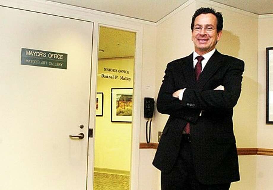 Stamford Mayor Danell Malloy outside his office at the Government Center/photo matthew vinci