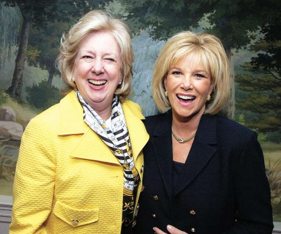 Photo/Alex von Kleydorff. Linda Fairstein the first recipient of the Woman of Courage award is joined by the 2009 honoree Joan Lunden at the award ceremony in Stamford.