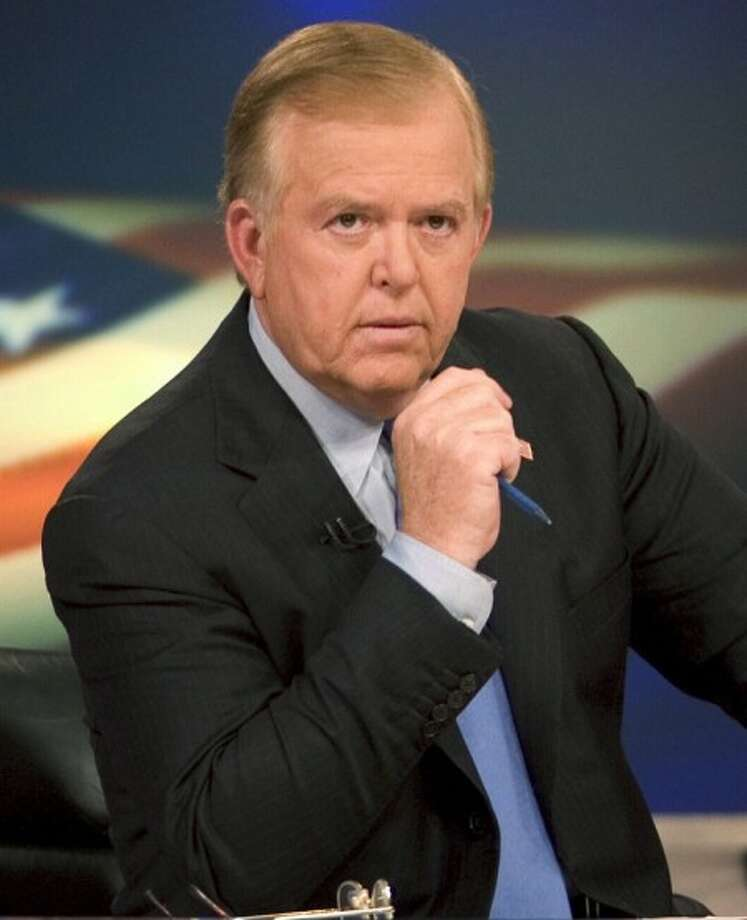 "FILE - In this 2005 file photo provided by CNN, news anchor Lou Dobbs sits on the set of his show, ""Lou Dobs Tonight,"" in New York (AP Photo/CNN, Mark Hill, File)"