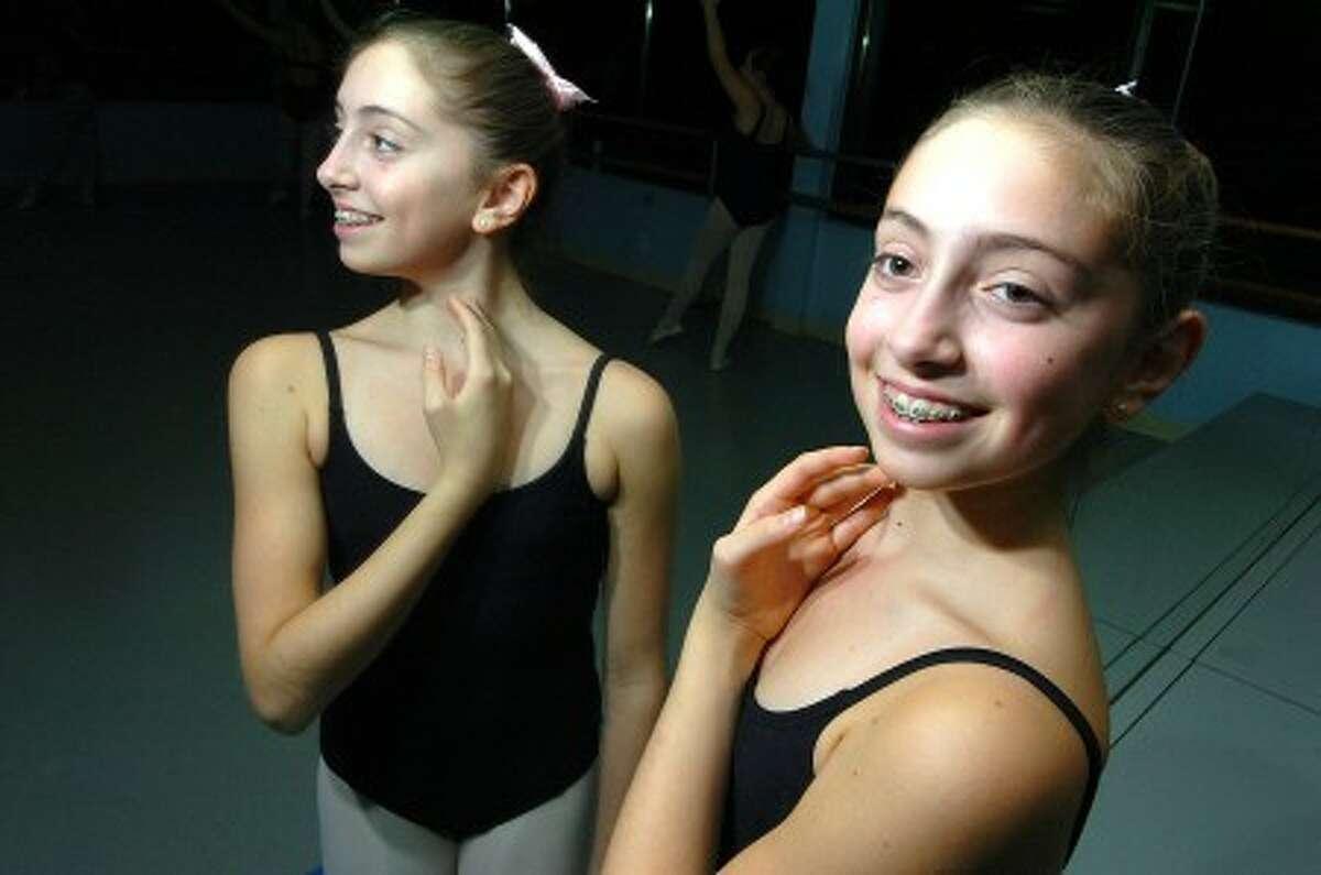 Photo/Alex von Kleydorff. Ballet dancer Katherine Higgins at The Wilton Dance Studio.