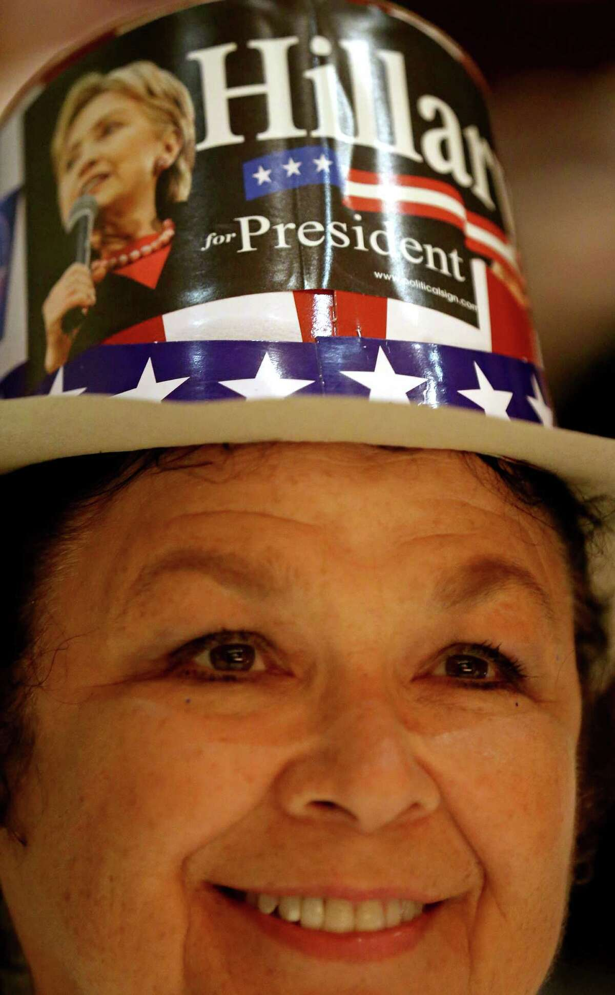 Hillary Clinton delegate and AVANCE founder Gloria Rodriguez, of San Antonio, listens to speakers during the kickoff reception for the 2016 Texas Democratic Convention held Thursday June 16, 2016 at La Villita Assembly Hall.