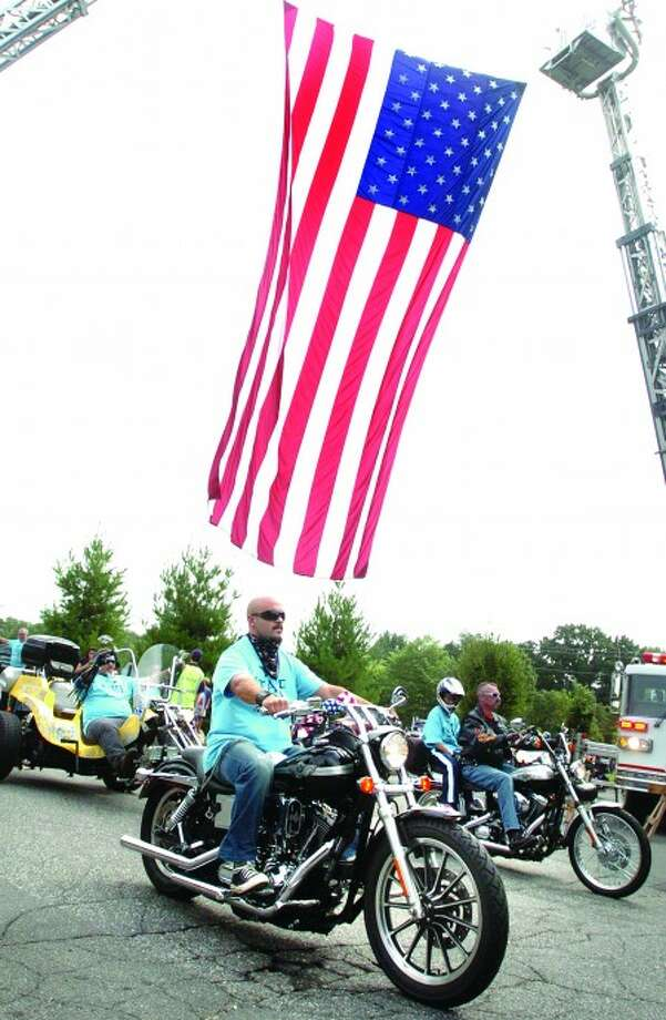 The 2009 Connecticut United Ride leaves Norden Park Sunday morning. Around 1500 motorcylces with police escorts rode through 10 cities and towns in tribute to those heroes of 9/11/hour photo matthew vinci