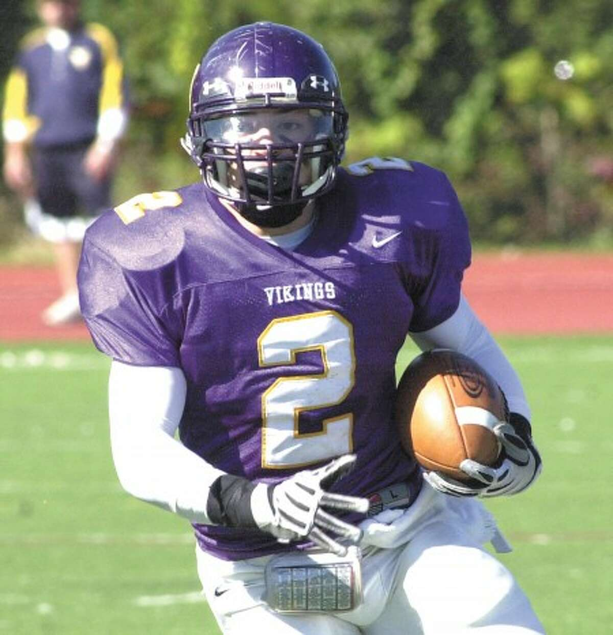 """Photo by John Nash - Westhill''s Danny Berisha went """"On the Record with the Stamford Times last week"""""""