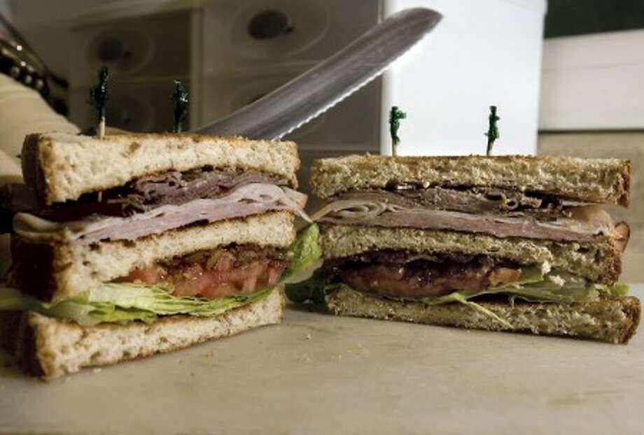 The Deli Basket in Newport News, Virginia, supplies lunch foods, like this super club, to locals inside and outside their Hilton area storefront. (Joe Fudge/Newport News Daily Press/MCT)