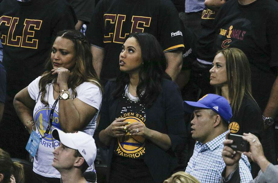 Ayesha Curry watches Game 6 of the NBA Finals at The Quicken Loans Arena on Thursday, June 16, 2016 in Cleveland, Ohio. Photo: Carlos Avila Gonzalez, The Chronicle