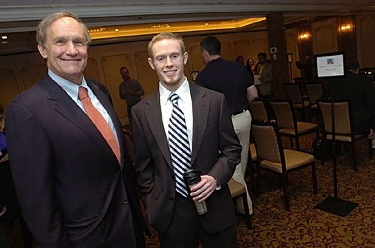 U.S. Senate hopeful Steven Simmons of Greenwich and 4th Congressional District hopeful William Gregory of New Canaan were the speakers at the Republican Town Committee at the Norwalk Inn on Monday night/hour photo matthew vinci