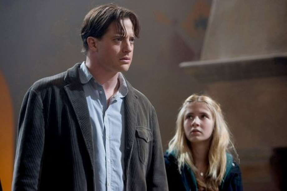 "Brendan Fraser stars as Mo and and Eliza Hope Bennett as Meggie in New Line Cinema''s fantasy adventure ""Inkheart."" (Murray Close/New Line Cinema/MCT)"
