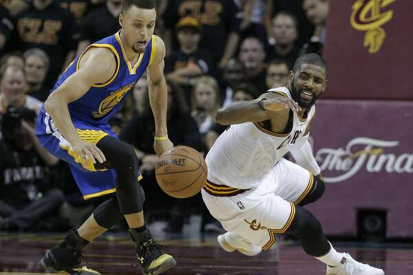 77c21b1b3b4 1of7Golden State Warriors  Stephen Curry and Cleveland Cavaliers  Kyrie  Irving chase a loose ball in the fourth quarter during Game 6 of the NBA  Finals at ...
