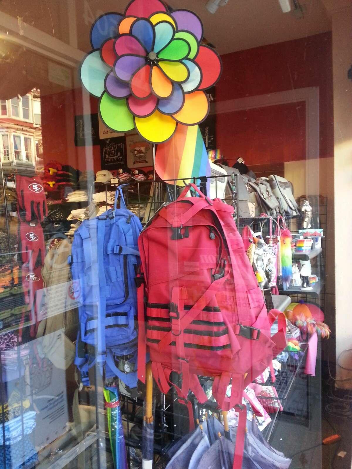 San Francisco's Castro District shows off it's colors for Pride 2016. Boutique on Castro Street.