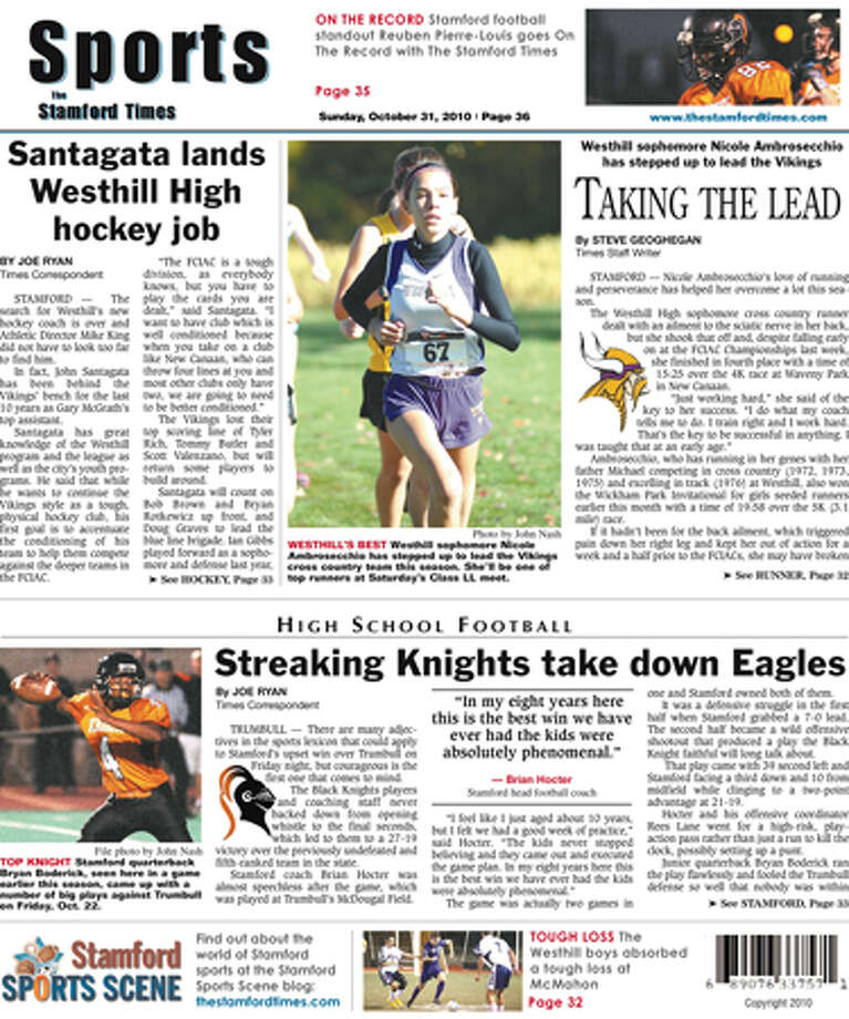 This Week In The Stamford Times (Oct. 31, 2010 edition)